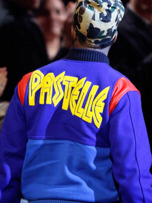 Kanye West American Rapper Pastelle Blue Jacket