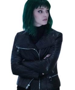 Emma Dumont The Gifted Polaris Leather Jacket