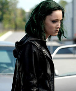 Black Leather Jacket Worn by Lorna Dane in Tv Series The Gifted