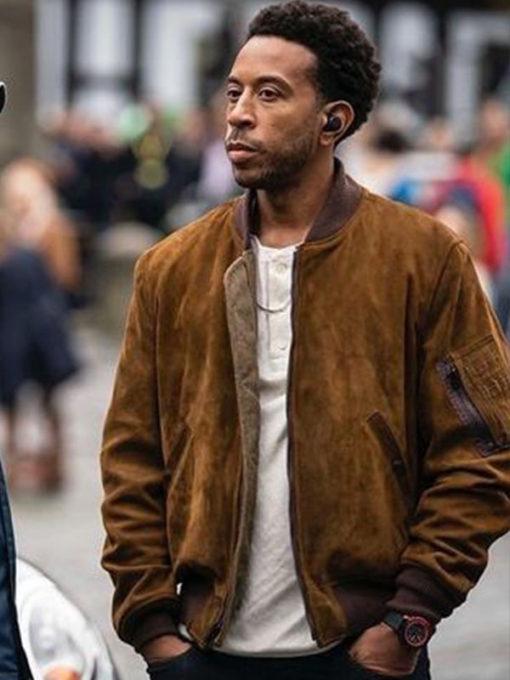 F9 Ludacris Brown Suede Leather Jacket