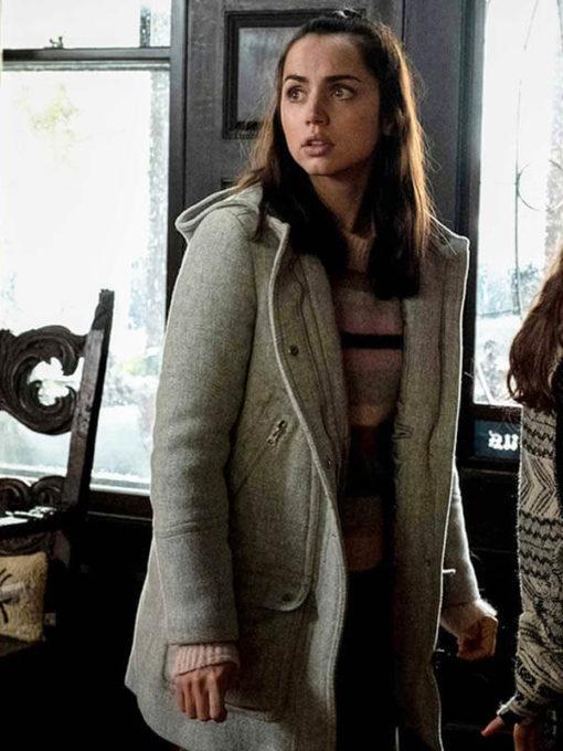 Marta Cabrera Knives Out Trench Wool Grey Coat