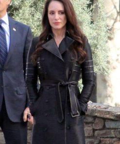 Revenge Victoria Grayson Black Coat