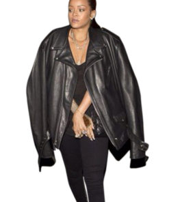 Rihanna Black Jacket