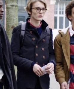 Black Leather Jacket worn by Robin Migné in Tv Series Skam France