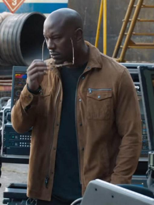 Fast & Furious 9 Roman Pearce Brown Cotton Jacket