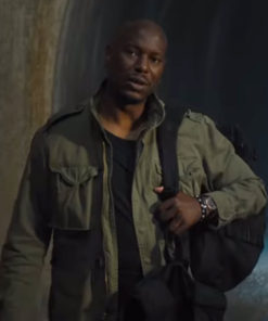 Roman Pearce Fast & Furious 9 Green Cotton Jacket