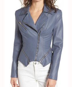 Emily Bett Rickards Arrow SO7 Motorcycle Leather Jacket