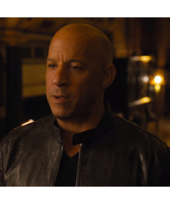 Dominic Toretto F9 Black Leather Biker Jacket