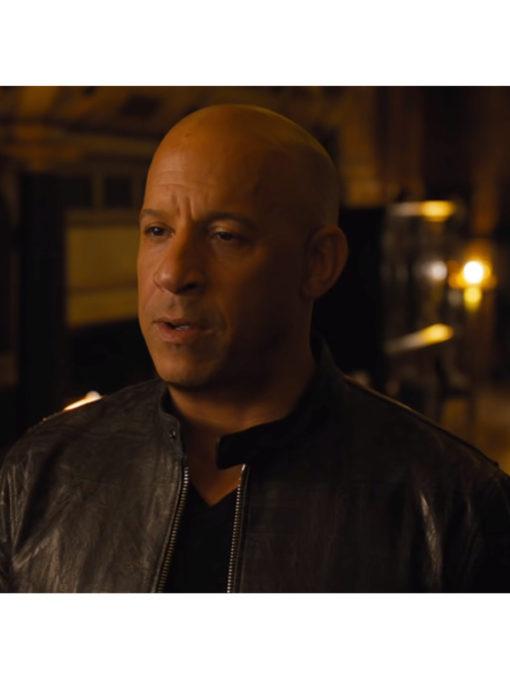 Dominic Toretto F9 Black Leather Biker Jacket
