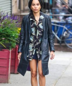 High Fidelity Zoë Kravitz Leather Coat