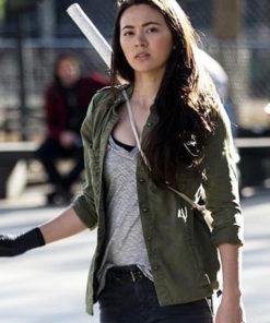 Jessica Henwick Iron Fist Green Jacket
