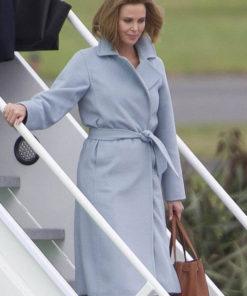 Charlize Theron Long Shot Coat