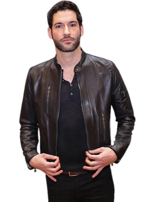 Tom Ellis Lucifer Morningstar Leather Jacket for Mens
