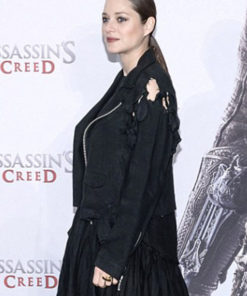 Marion Cotillard Assassin's Creed Suede Leather Jacket
