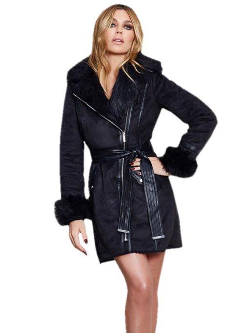 Abbey Clancy Fur Collar Coat
