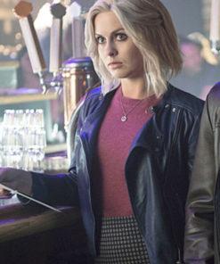 Blue Leather Rose McIver Jacket in Tv Series iZombie