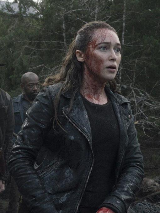 Alicia Clark The Walkind Dead Leather Jacket