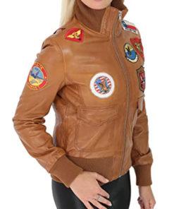 Women Top Gun Style Bomber Jacket