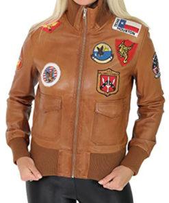 Top Gun Style Ladies Bomber Jacket