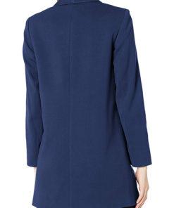 Women's Blue Wool Coat