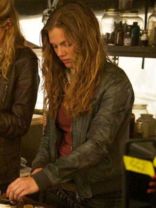 Revolution Tracy Spiridakos Gray Leather Jacket