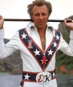 Evel Knievel Biker White Jacket