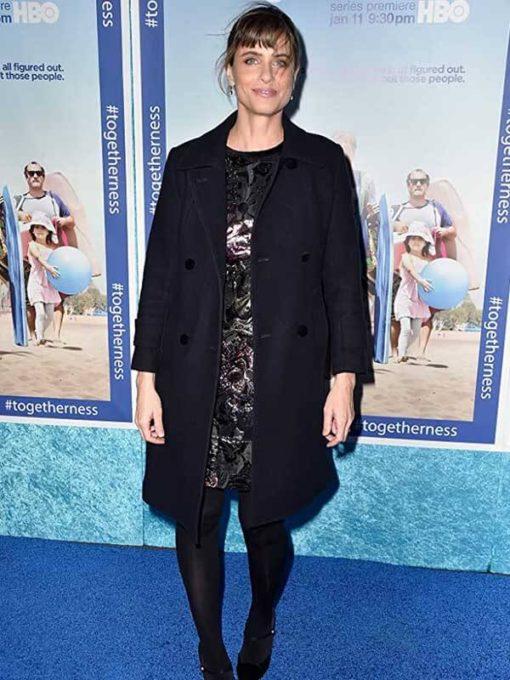 Amanda Peet Togetherness Black Coat