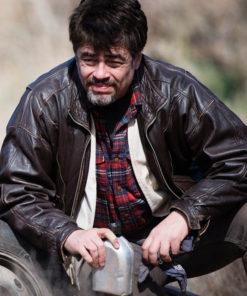 Benicio Del Toro A Perfect Day Leather Jacket