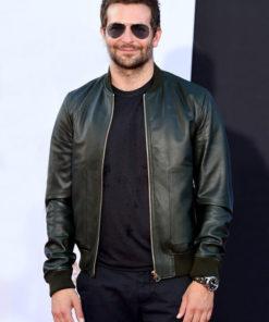 Bradley Cooper Varsity Bomber Leather Jacket