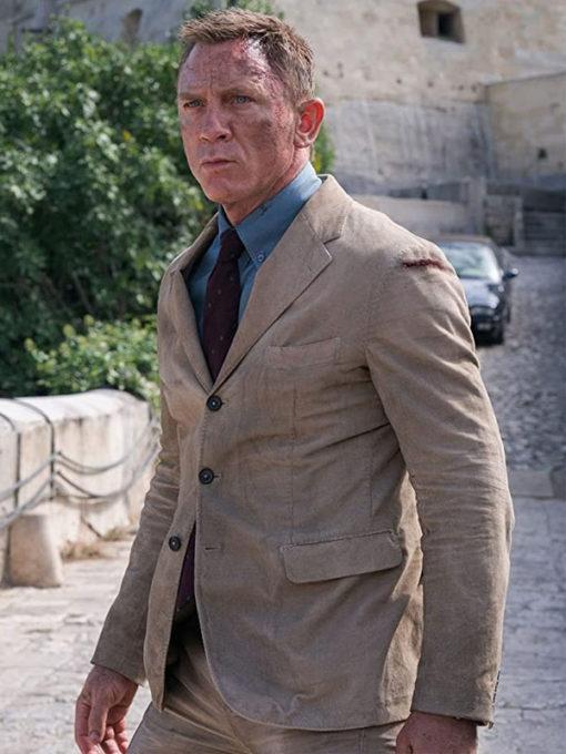 James Bond No Time To Die Beige Corduroy Suit