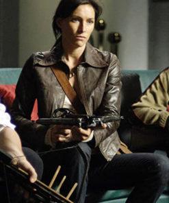 Daybreakers Claudia Karvan Distressed Brown Jacket