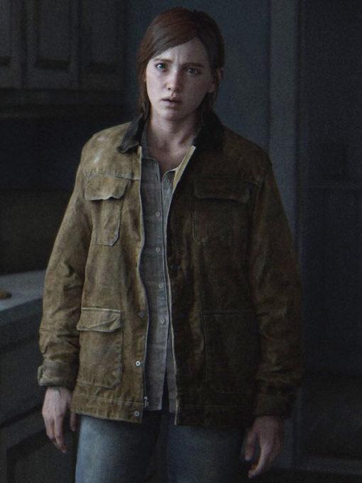The Last of Us Ellie Brown Leather Jacket