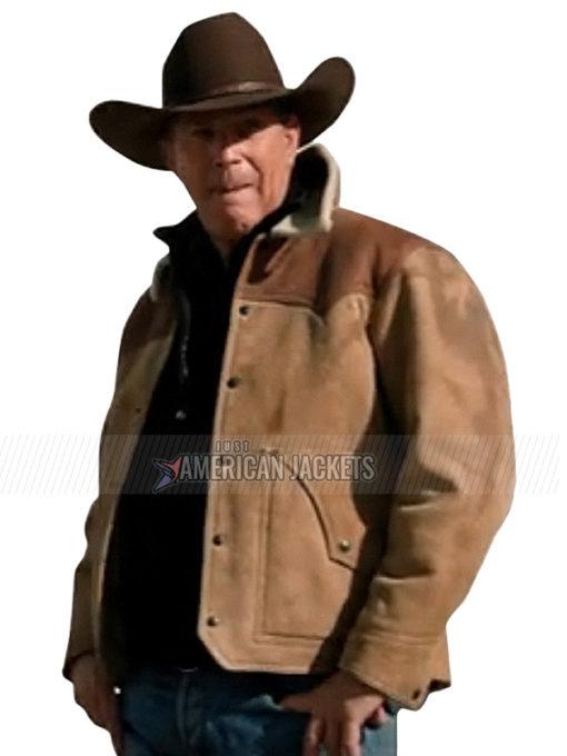 John Dutton Yellowstone S03 Leather Jacket