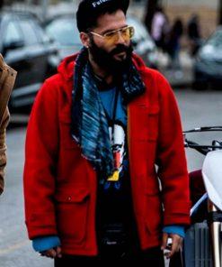 Movie Charm City Kings Angel Soto Red Wool Coat