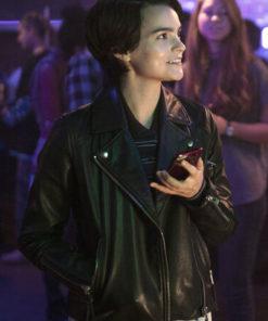 Brianna Hildebrand Trinkets Leather Jacket