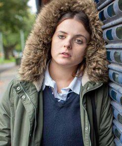 In My Skin Bethan Gwyndaf Hooded Green Jacket