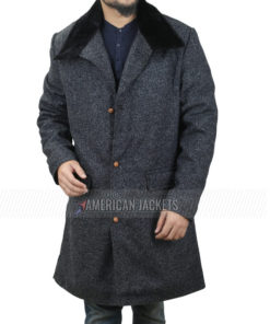The Undoing Hugh Grant Grey Wool Coat