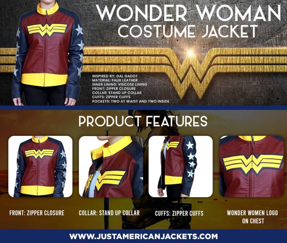 Batman Vs Superman Wonder Women Leather Jacket