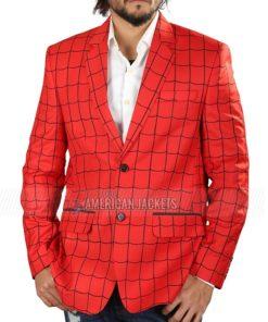 Tom Holland Spiderman Red Blazer Coat