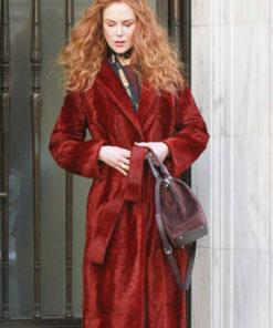 Nicole Kidman The Undoing Maroon Coat