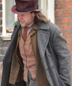 A Christmas Carol Guy Pearce Grey Wool Coat