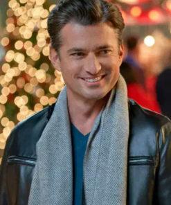 A Nashville Christmas Carol Gavin Leather Jacket