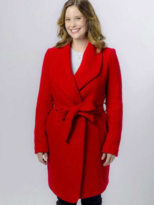 Allie Shaw Christmas In Evergreen Red Coat