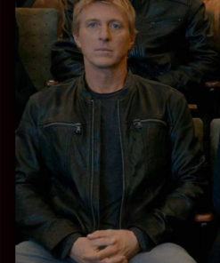 William Zabka Cobra Kai S03 Leather Jacket