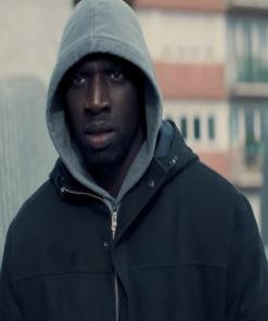 Arsene Lupin Omar Sy Cotton Black Jacket
