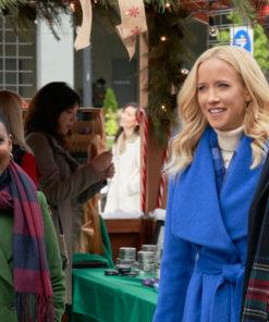 Vivian A Nashville Christmas Carol Blue Wool Coat