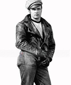Marlon Brando Motorcycle Leather Jacket