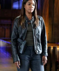 Gabrielle Union L.A.'s Finest Black Leather Jacket