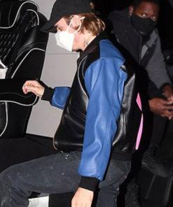 Justin Bieber Leather Bomber Jacket
