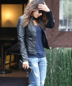 Mila Kunis Black Leather Jacket